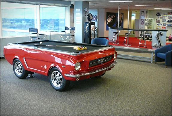 1965 Ford Mustang Car Pool Table 5 Jpg