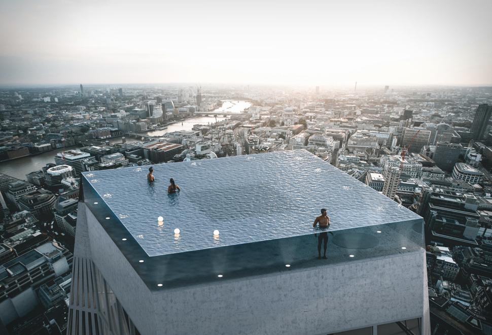 360 Degree Rooftop Infinity Pool