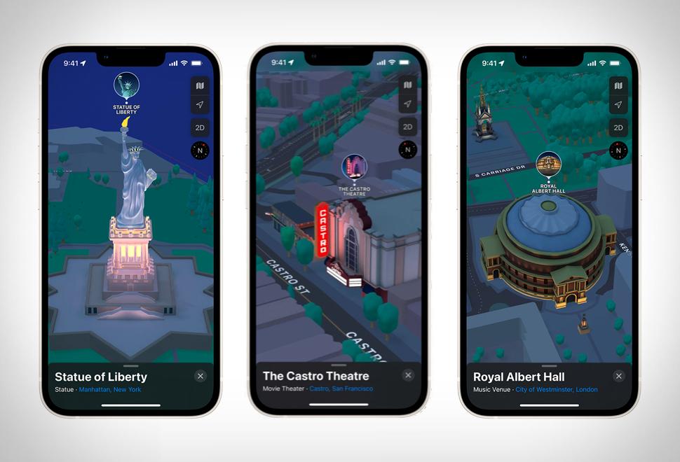 Apple Maps 3D View   Image