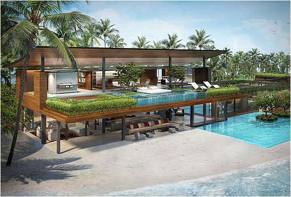 Private Insel mieten moderne Einrichtung