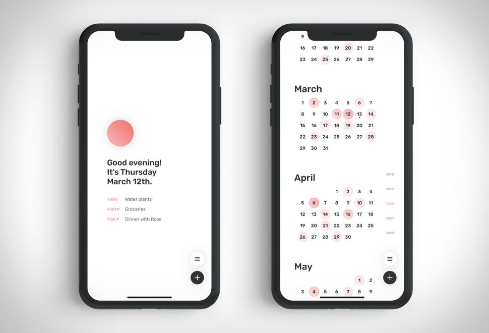 Dawn Minimal Calendar | Image