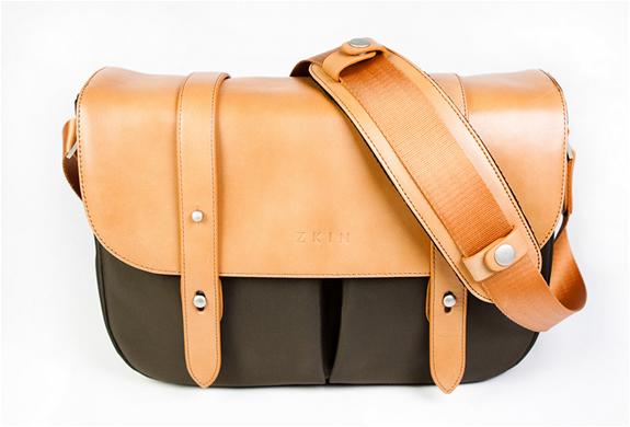 Classic leather camera bag