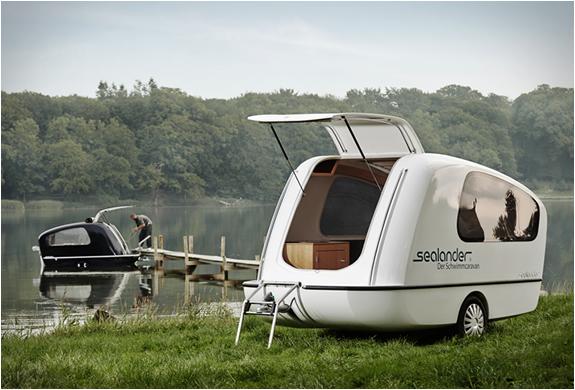 Sealander amphibious camper Sealander caravan